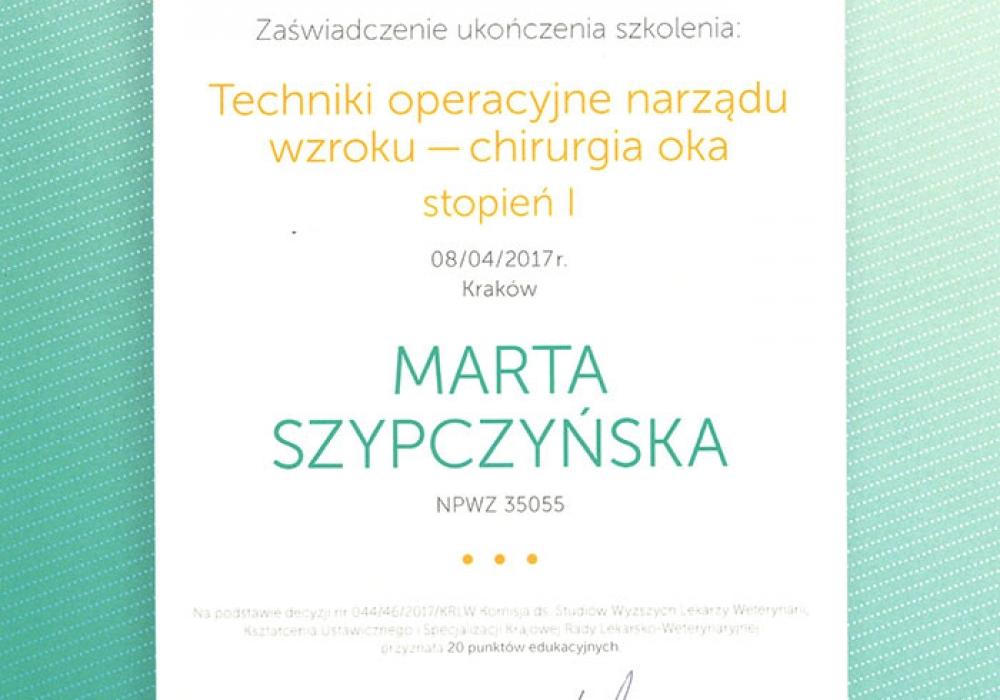 Gabinet Weterynaryjny - Certyfikaty